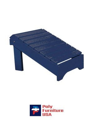 Amish Made Poly Furniture USA All Weather Footstool Patriot Blue