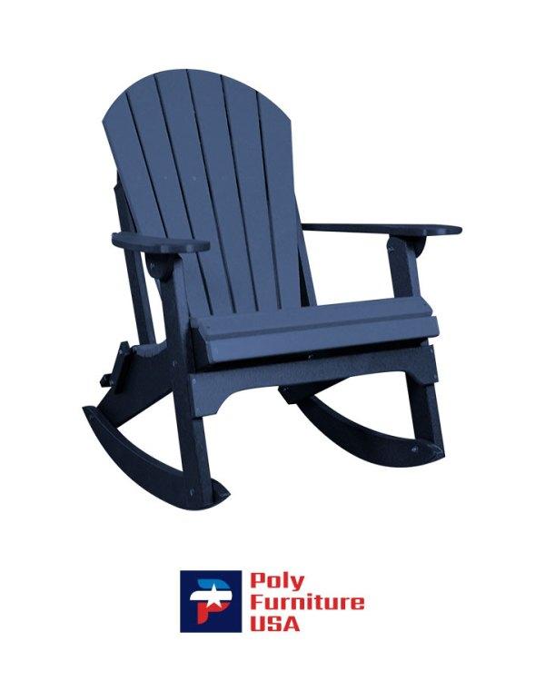 Amish Made Poly Furniture USA Adirondack Rocking Chair Patriot Blue