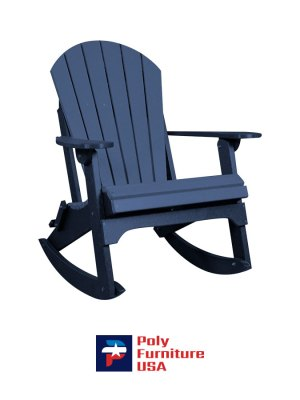 Amish Made Poly Furniture USA Adirondack Rocking Chair Patriot Blue
