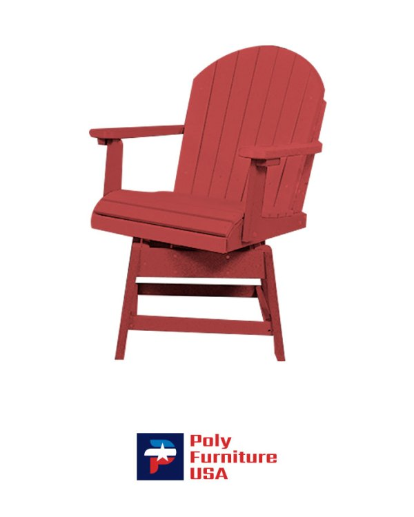 Amish Made Poly Furniture USA Dining Height Swivel Chair Ruby Red