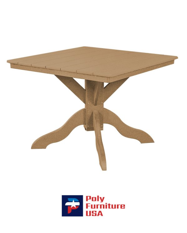 Amish Made Poly Furniture USA Dining Height Table Cedar