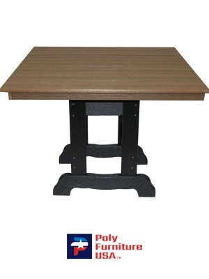 Square Dining Height English Table