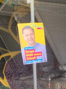 Politics on the street: FDP poster in Berlin