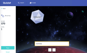 Arcade-style vocabulary drilling with Quizlet's Gravity