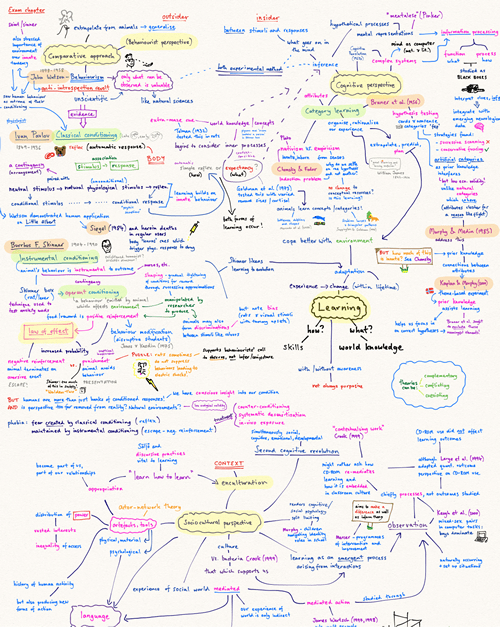 A brain dump for the psychology of learning