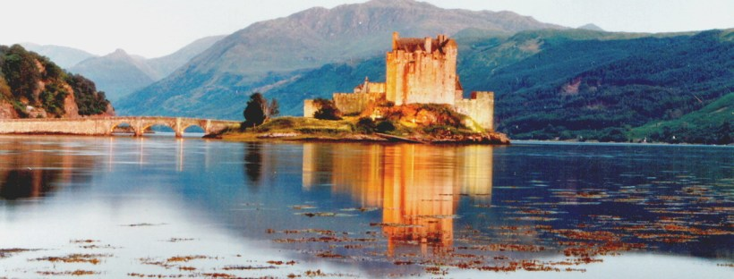 Like Irish and Scottish Gaelic, the landscapes of both countries can be remarkably similar. Eilean Donan Castle, Scotland. Image by Jeff Osborn, FreeImages.com.