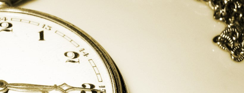 A pocket watch with the time showing as quarter past three. Image from freeimages.com.