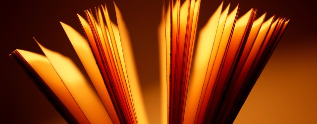 A book lying open with its pages fluttering. Image from freeimages.com.
