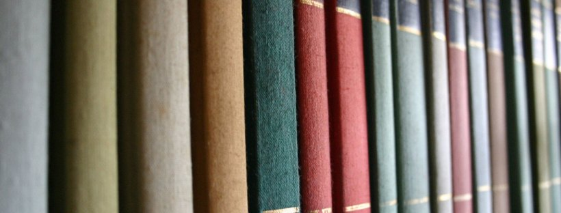 A row of old books. Image from freeimages.com