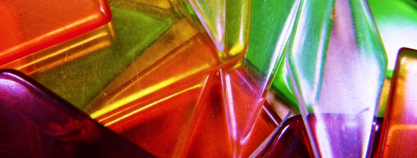 Intonation adds a thousand different colours to speech. Coloured glass. Image by Simon Jackson on FreeImages.com