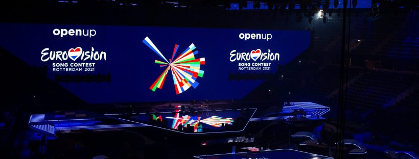 Language and music - the Eurovision 2021 stage. Photo by EBU / STIJN SMULDERS.