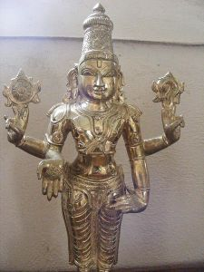 Author: +rex, via Wikipedia Commons, a Panchaloha Murti (a metal alloy made of 5 elements)