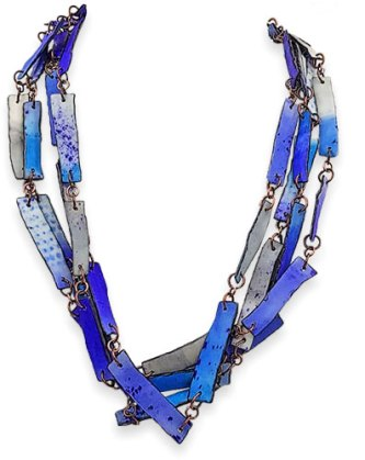 "Anarina Anar draws 60"" of sky blue links on PolymerClayDaily.com"