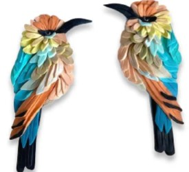 Are there bee-eaters on your worktable? from PolymerClayDaily.com