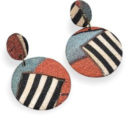 Bettina Welker airs her Patchwork earrings this spring on PolymerClayDaily.com