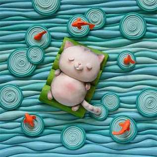 Helena Bogosian makes us float in clay on PolymerClayDaily.com