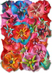 Bonnet's wavy polymer flowers