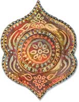 Heather Campbell Faux Batik Brooch