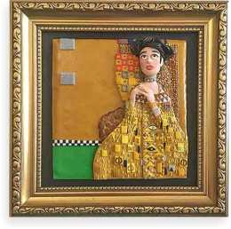 Lizzie Campbell brings Klimt to polymer on PolymerClayDaily.com