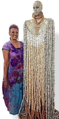 Debbie Jackson adds polymer jewelry to ceramic sculptures on PolymerClayDaily.com