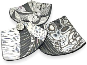 Ann Dillon stirs up sparkles in her swap bowls on PolymerClayDaily.com