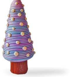 Cristina Alvarez uses dots and dashes to say Feliz Navidad on PolymerClayDaily