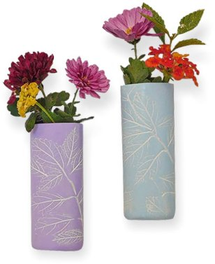 Kathy Koontz' handy magnetic and easy vases for last-minute gifts on PolymerClayDaily.com
