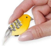 Karina Formanova's birdy brooches take wing on PolymerClayDaily