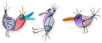 Gael Keyes goes a little cuckoo with outrageous birds on PolymerClayDaily.com