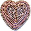 Stacy Gates zippers in polymer heart