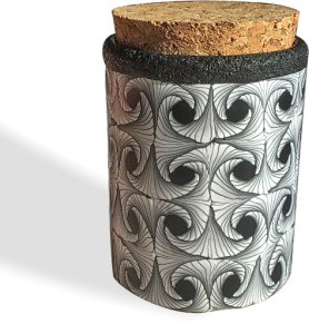 Lindsey Hansen swirls black and white into a 3D cane on PolymerClayDaily.com