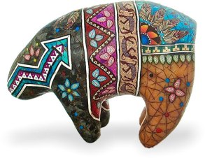 Deb Hart uses small Southwest canes to cover her sculpted animals on PolymerClayDaily.com