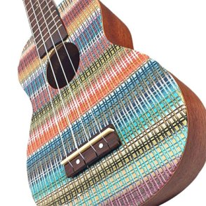 Jana Honnerova hits the right note with this polymer veneer on her ukulele on PolymerClayDaily.com