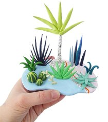How Boe Holder's succulents took off on PolymerClayDaily