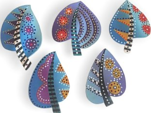 Lynn Yuhr's leaves for a swap raise the bar on PolymerClayDaily.com
