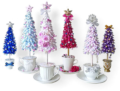 Sparkling polymer with your Christmas coffee on PolymerClayDaily.com