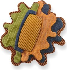 Olga Schmuck layers corrugated textures on PolymerClayDaily.com
