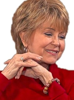 Jane Pauley wearing polymer bracelet