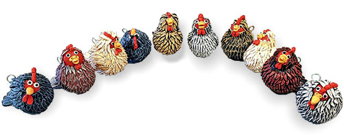 Wendy Jorre de St Jorre assembles her flock on PolymerClayDaily.com