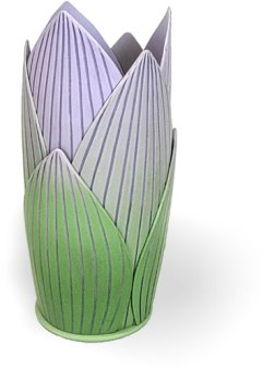 Phyllis Pollema Cahill's vase moves us to spring on PolymerClayDaily.com