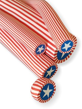 Shuli Raanan's star canes turn into patriotic beads on PolymerClayDaily
