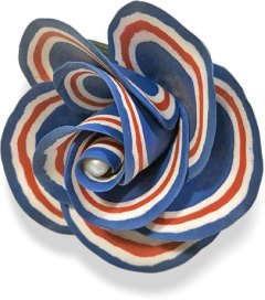 Ann Havlach-Duncan's patriotic garden grows as you vote on PolymerClayDaily.com
