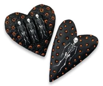 Bones on Ron Lehocky's hearts? Sure! on PolymerClayDaily.com