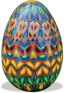 A basket of eggs from Kerstin Rupprecht on PolymerClayDaily.com