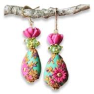 Rachana Saurabh's folkart in jewelry and painting on PolymerClayDaily.com