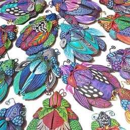 Wanda Shum births a new batch of polymer bugs on PolymerClayDaily.com