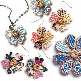Amy Sun Ah brings harmony to the patterns in her holiday collections on polymerclaydaily.com