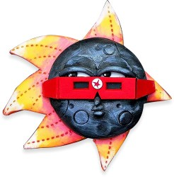 Melissa Terlizzi's cheeky eclipse on PolymerClayDaily