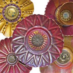 Thomas' polymer button flowers