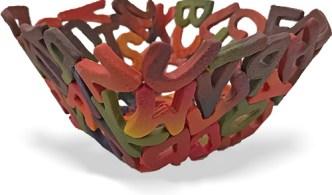 Wujick's alphabet bowl on PolymerClayDaily.com